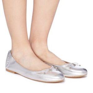 Sam Edelman Felicia Ballet Flats Silver Size 9